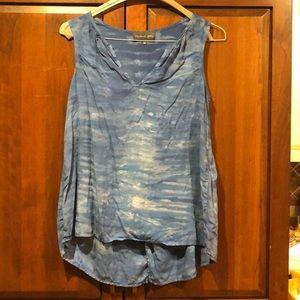 Michael stars blue xs shirt rayon guc tank top